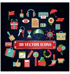 Set miscellaneous icons for web designer vector