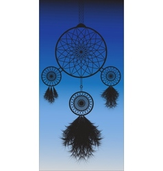 Dreamcatcher image in night background vector
