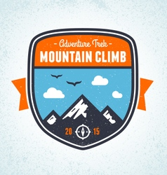Mountain badge vector