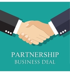 Handshake businessman agreement vector