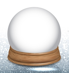 Empty snow dome globe vector