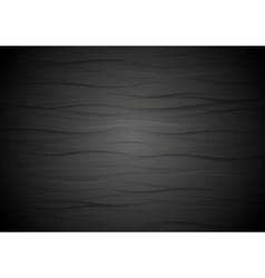 Abstract wavy black texture background vector