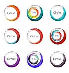 Set of abstract swirls and circles logo vector