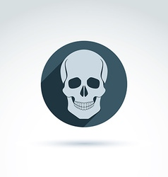 a human skull in a circle Dead head abst vector image vector image