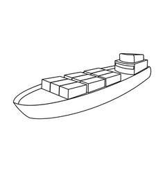 a ship for the transport of heavy goods over long vector image