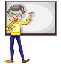 A simple sketch of a teacher vector