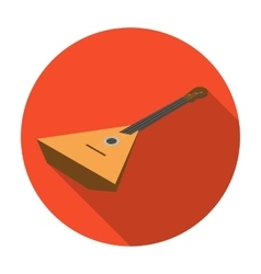 Balalaika icon in flat style isolated on white vector image