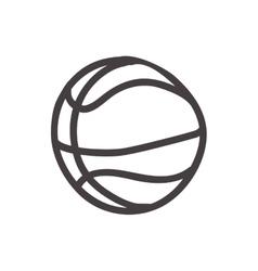 Basketball ball icon sketch design vector