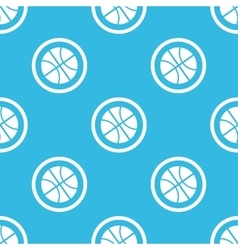 Basketball sign blue pattern vector image vector image