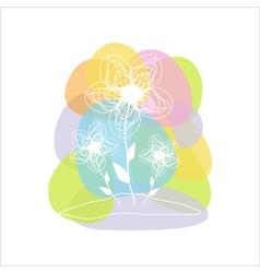 Beautiful flower card vector