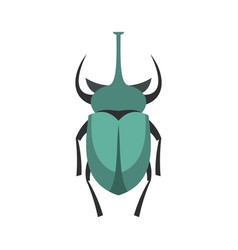 big beetle icon flat style vector image vector image