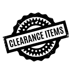 Clearance items rubber stamp vector