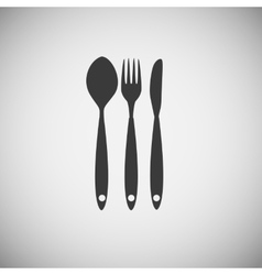 Cutlery Spoon Fork and Knife Icon vector image vector image