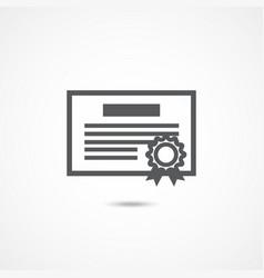 debenture icon on white vector image vector image