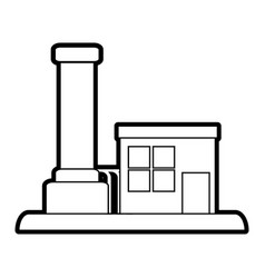 factory cartoon silhouette vector image