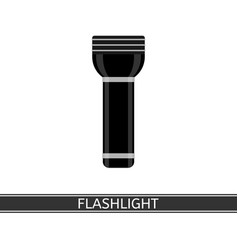 flashlight icon vector image vector image