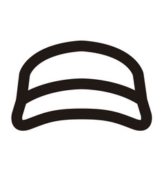 Isolated beach hat outline vector