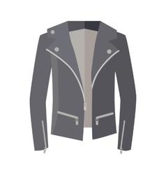 Jacket on zipper isolated on white unisex vector