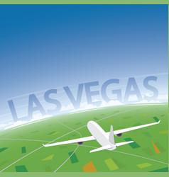 Las vegas flight destination vector