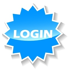 Login blue icon vector