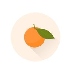 Mandarin flat icon chinese symbol of abundance vector