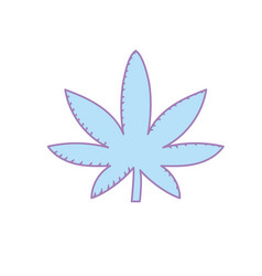 Marijuana plant with leaves and medical herb vector