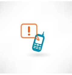 Mobile icon and message icon vector image vector image