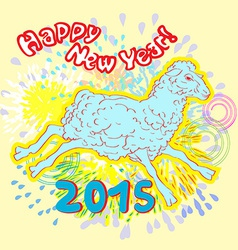 new year of sheep fireworks vector image vector image