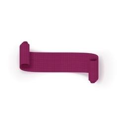Realistic scroll purple greeting Ribbon vector image vector image