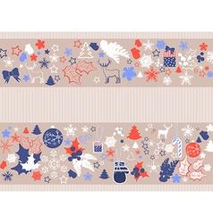 Retro christmas banner vector