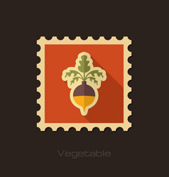Rutabaga or swede flat stamp vegetable root vector