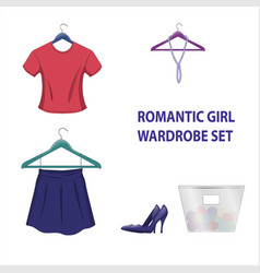 set of trendy women things vector image