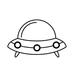 space ship isolated icon vector image