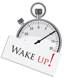 Stopwatch with text wake up vector image vector image