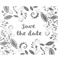 Silver greeting or save the date card vector