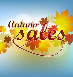Autumn sale background with leaves vector