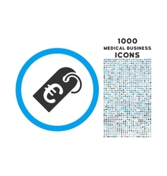 Euro badge rounded icon with 1000 bonus icons vector