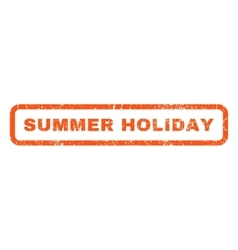 Summer holiday rubber stamp vector