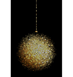 gold disco ball lights vector image