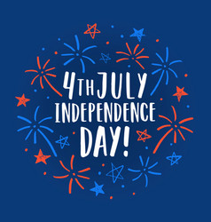 Beautiful 4th of july decorative card vector