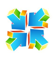 Arrows colored abstract symbol vector
