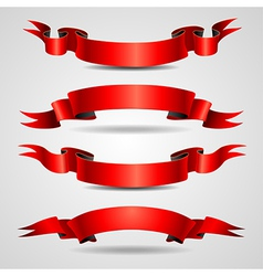 Retro ribbons red vector