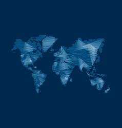 Modern digital world map technolgoy concept design vector