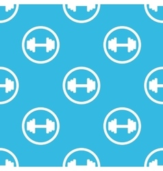Barbell sign blue pattern vector