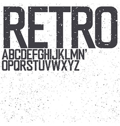 Retro uppercase font vector