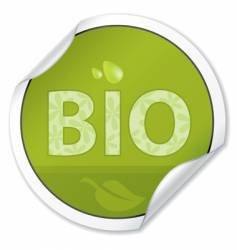 bio sticker vector image