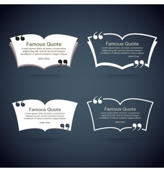 Quote border set vector