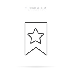 Awards icons isolated with shadow in linear style vector