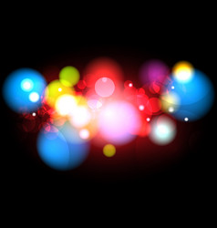 Abstract blurred color with bokeh background vector