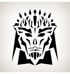 Abstract Mask Tribal Style vector image